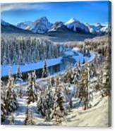 Bow Valley Winter View Canvas Print