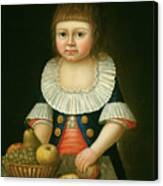 Boy With A Basket Of Fruit Canvas Print