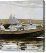 Boys In A Dory, 1873  Canvas Print