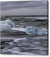 Brethamerkursandur Iceberg Beach Iceland 2155 Canvas Print