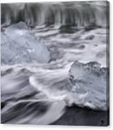 Brethamerkursandur Iceberg Beach Iceland 2588 Canvas Print