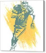 Brett Favre Green Bay Packers Water Color Art 1 Canvas Print