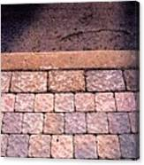 Brick Sidewalk 3 Wc Canvas Print