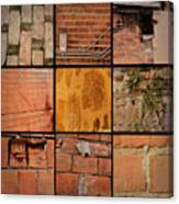 Bricks Collage  Canvas Print