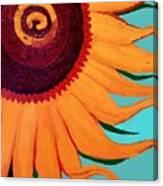 Bright Happy Sunflower Canvas Print