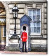 Buckingham Palace Queens Guard Art Canvas Print