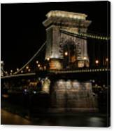 Budapest At Night. Canvas Print
