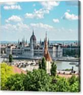 Budapest Skyline Canvas Print