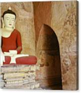 Buddha In A Niche Canvas Print