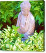 Buddha In The Garden Canvas Print