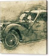 Bugatti Type 57 - Atlantic 3 - 1934 - Automotive Art - Car Posters Canvas Print