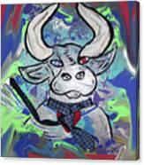 Bullish - A Bull With A Heart - Untie Me Canvas Print