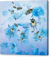 Bumble Bees Canvas Print