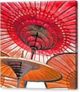 Burmese Parasols Canvas Print