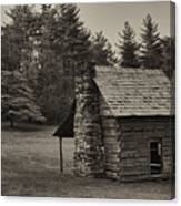 Cabin On The Blue Ridge Parkway - 15 Canvas Print