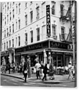 caffe napoli on the corner of mulberry street and hester st  little italy New York City USA Canvas Print