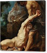 Cain Slaying Abel Canvas Print