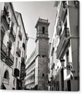 Calle Serranos In Valencia Canvas Print