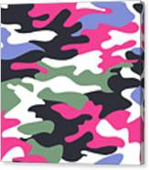 Camouflage Pattern Background Seamless Clothing Print, Repeatabl Canvas Print
