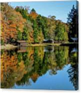 Camp Blanton Autumns Reflection Canvas Print