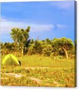 Camp Ground Near Kasane In Botswana Canvas Print