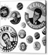 Campaign Buttons Canvas Print
