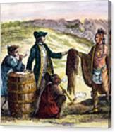 Canada: Fur Traders, 1777 Canvas Print