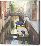 Canals Of Venice With Instagram Vintage Style Filter Canvas Print