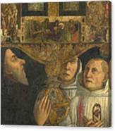 Cardinal Bessarion With The Bessarion Reliquary Canvas Print