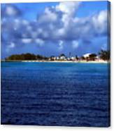 Caribbean Sea And Beach Canvas Print