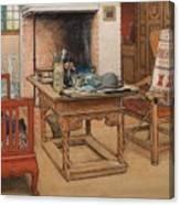 Carl Larsson - Peek-a-boo 1901 Canvas Print