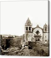 Carmel Mission By A.j. Perkins 1880 Canvas Print