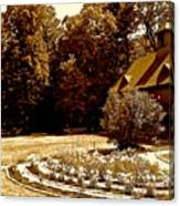 Carriage House Garden Canvas Print