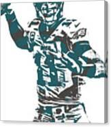 Carson Wentz Philadelphia Eagles Pixel Art 5 Canvas Print