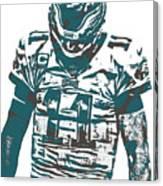 Carson Wentz Philadelphia Eagles Pixel Art 7 Canvas Print