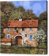 Casolare A Primavera Canvas Print