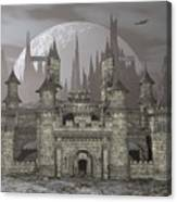 Castle By Night - 3d Render Canvas Print