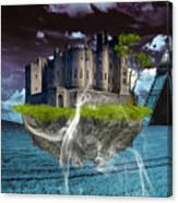 Castle In The Sky Art Canvas Print
