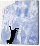 Cat Jumping From A Wall Canvas Print