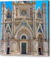 Cathedral Of Orvieto, Duomo Di Orvieto, Umbria, Italy Canvas Print
