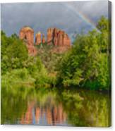 Cathedral Rock Rainbow Canvas Print