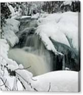 Cattyman Falls In Winter Canvas Print
