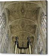 Ceiling Of Kings College Chapel Canvas Print
