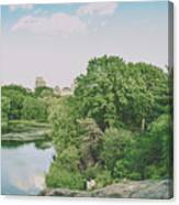 Central Park In Summer Canvas Print