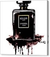 Chanel Noir Perfume Canvas Print