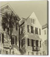 Charleston Style Houses Canvas Print