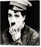 Charlie Chaplin, Vintage Actor And Comedian Canvas Print