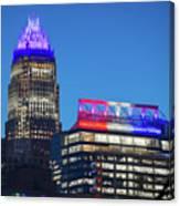 Charlotte North Carolina Skyline City View Canvas Print
