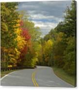 Cherohala Skyway In Autumn Color Canvas Print