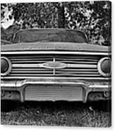Chevrolet Bel Air Black And White 2 Canvas Print